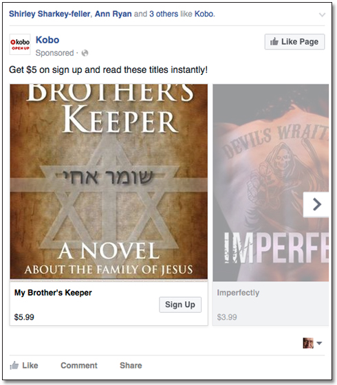 Kobo Facebook Post